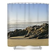 Coast Of Pacific Ocean On Vancouver Island Shower Curtain