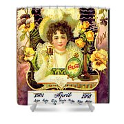 Coca - Cola Vintage Calendar Shower Curtain