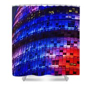 Colorful Elevation Of Modern Building Shower Curtain