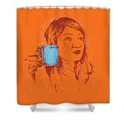 Commissioned Portraits Shower Curtain