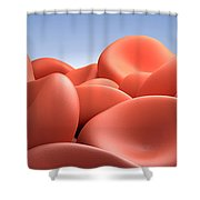 Conceptual Image Of Red Blood Cells Shower Curtain