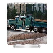 Construction Truck Shower Curtain