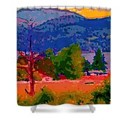 Cowichan Bay From Doman's Road Shower Curtain