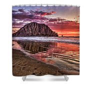 Crimson Sunset Shower Curtain