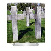 3 Crosses Shower Curtain