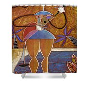 Cuatro Caliente Shower Curtain