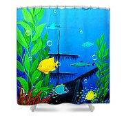 3-d Aquarium Shower Curtain