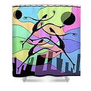 3 Dancers  Shower Curtain