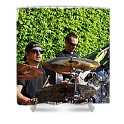 Dave Lombardo And Pancho Tomaselli Shower Curtain