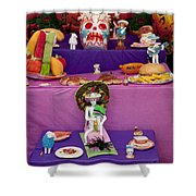 Day Of The Dead Remembrance, Mexico Shower Curtain