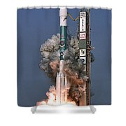 Delta II Rocket Launch Shower Curtain