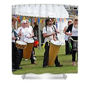 Dende Nation Samba Drum Troupe Shower Curtain