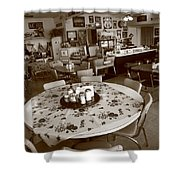Diner On Route 66 Shower Curtain