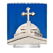 Dome Of Agios Georgios Chapel Shower Curtain