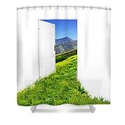 Door To New World Shower Curtain