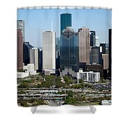 Downtown Houston Skyline Shower Curtain