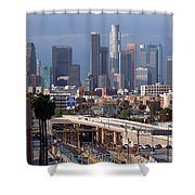 Downtown Los Angeles Skyline Shower Curtain