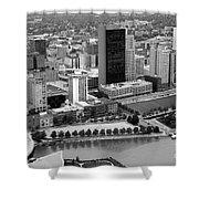 Downtown Skyline Of Toledo Ohio Shower Curtain