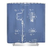 Drill Pounder Patent Drawing From 1922 Shower Curtain by Aged Pixel