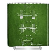 Dumbbell Patent Drawing From 1927 Shower Curtain by Aged Pixel