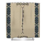 Dunne Written In Ogham Shower Curtain