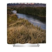 Eastern Sierras And Owens River Shower Curtain