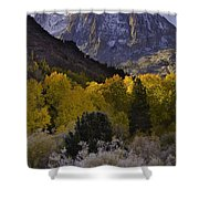 Eastern Sierras In Autumn Shower Curtain
