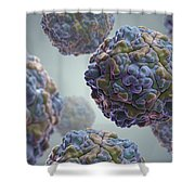 Echo Virus Shower Curtain