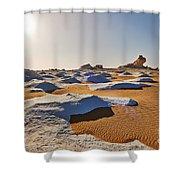Egytians White Desert Shower Curtain