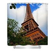 Eiffel Tower Paris France Shower Curtain