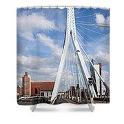 Erasmus Bridge In Rotterdam Shower Curtain