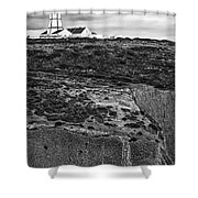 Espichel Cape Lighthouse Shower Curtain