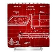 Etch A Sketch Patent 1959 - Red Shower Curtain