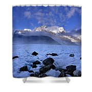 Exploration Of Ice Caves And Moulins Shower Curtain