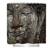 Face Of Buddha Shower Curtain