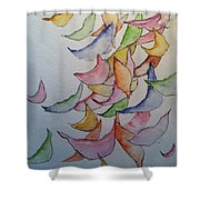 Falling Into Place Shower Curtain by Sherry Harradence