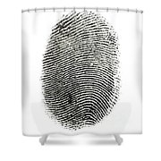 Fingerprint Shower Curtain