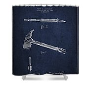 Fireman Axe Patent Drawing From 1940 Shower Curtain by Aged Pixel
