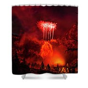 Fireworks Above Toce Falls, Formazza Shower Curtain