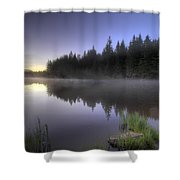 First Light At Trillium Lake With Reflection Shower Curtain