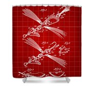 Fish Lure Patent 1933 - Red Shower Curtain