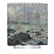 Fishing Nets At Pourville Shower Curtain