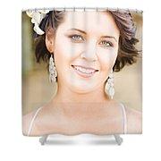 Flower Girl Shower Curtain
