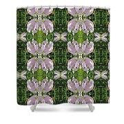 Flowers From Cherryhill Nj America Silken Sparkle Purple Tone Graphically Enhanced Innovative Patter Shower Curtain