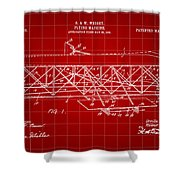 Flying Machine Patent 1903 - Red Shower Curtain