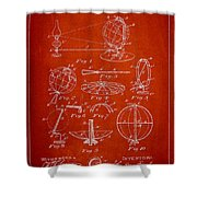 Folding School Globe Patent Drawing From 1887 Shower Curtain
