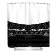 Football Soccer Stadium Shower Curtain