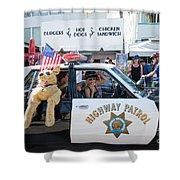 Ford Diplomat Police Car Shower Curtain