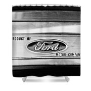 Powered By Ford Emblem -0307bw Shower Curtain