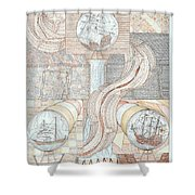 Fortune Of Ships Shower Curtain